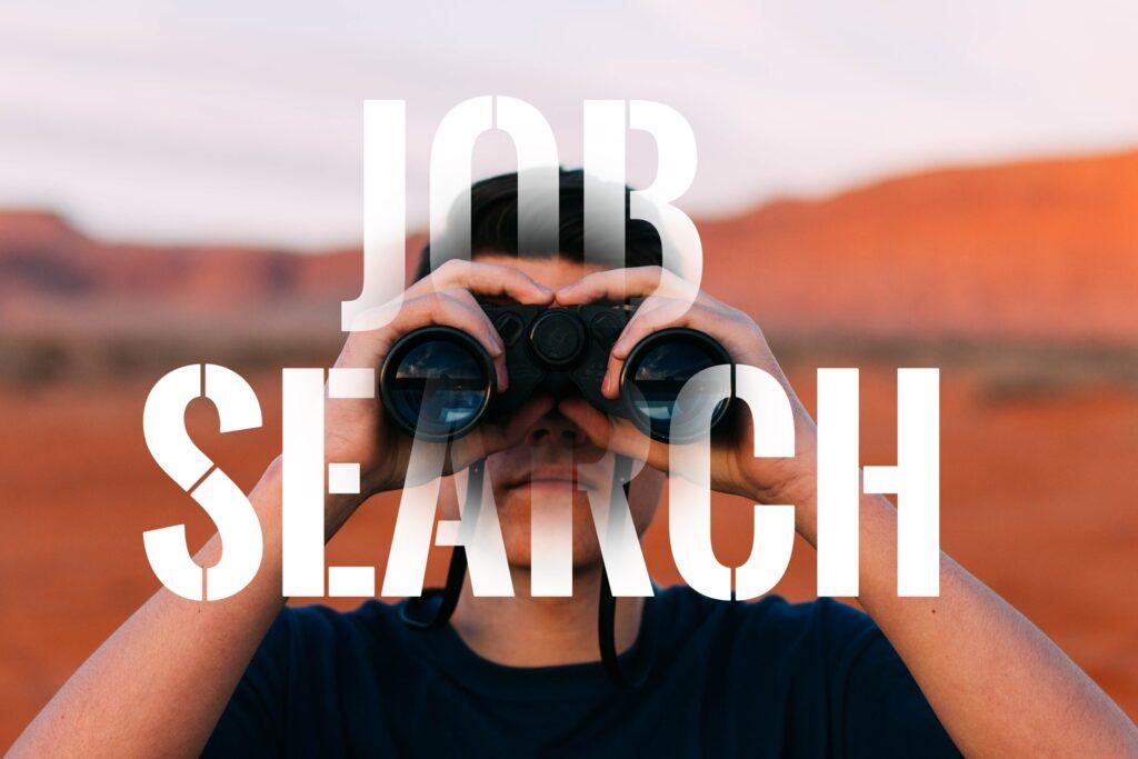 仕事を探している人