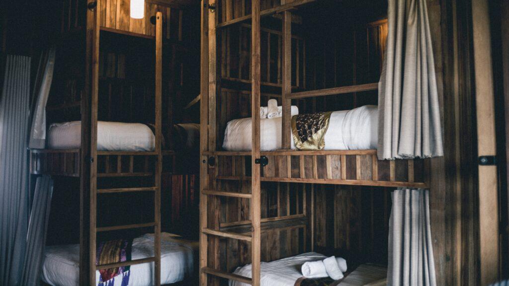 ゲストハウスの寝室